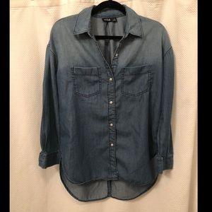 Super Cute ombré Denim button down blouse
